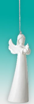 Small Winged Angel Holding Star Christmas Tree Ornament