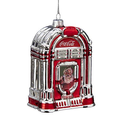 Kurt Adler Glass Coca-Cola Jukebox Ornament, 5-Inch