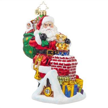 Christopher Radko a Spectacular Entrance Santa Glass Christmas Ornament – 6″h.