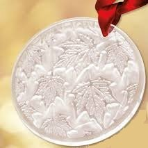 Lalique 2015 Ornament De Noel Champs-elysees, Frosted