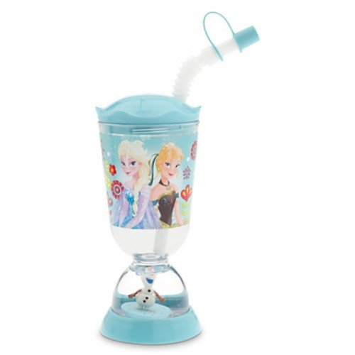 Disney Frozen Elsa Anna Olaf Snowglobe Tumbler with Straw By 5starservice