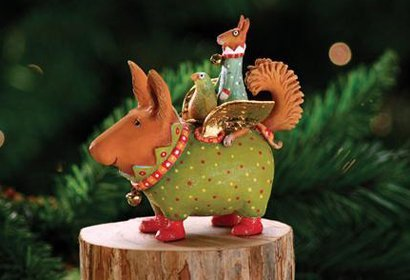 Patience Brewster Terrier Carrier Ornament – Krinkles Christmas Décor New 08-30391