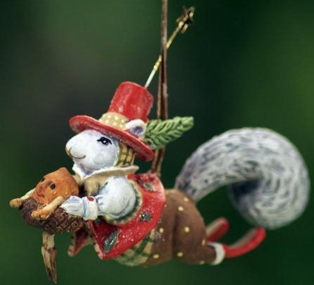 Patience Brewster Mini Ornament – Mr. Squirrel