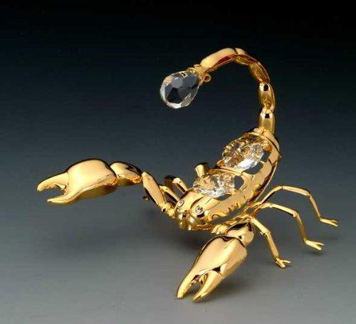 SCORPION 24K Gold Plated Swarovski Crystal Ornament New