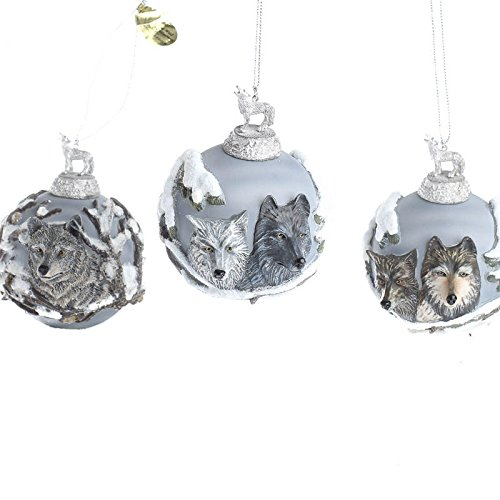"Bradford Exchange Limited Edition ""Eyes of the Wild"" Heirloom Glass Ornament Collection"