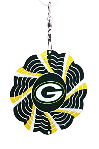 Green Bay Packers Geo Spinner Christmas Ornament
