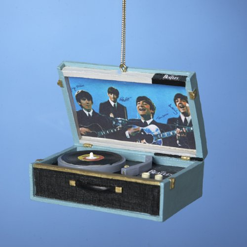 Beatles Replica Record Player 2 3/4-Inch Ornament