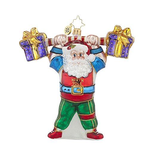 Christopher Radko Pumpin' Up! Santa Christmas Ornament