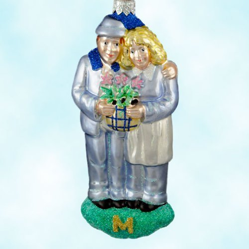 Patricia Breen Growing in Love Christmas Ornaments, 1998, 9800mil, Milaeger's Exclusive
