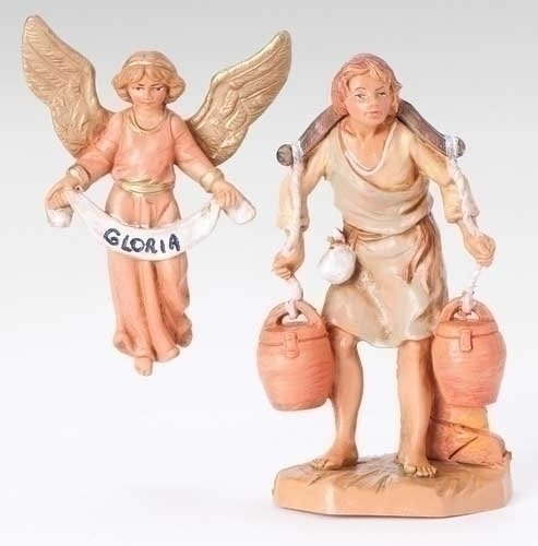 Fontanini Gloria Angel And Noah 3.5″ * Nativity Village Collectible 55027