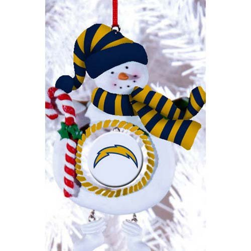 San Diego Chargers Jolly Snowman Christmas Ornament