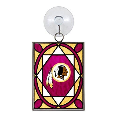 Washington Redskins Stained Glass Ornament / Suncatcher