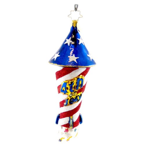 Christopher Radko HAVE A BLAST! Blown Glass Ornament July 4Th