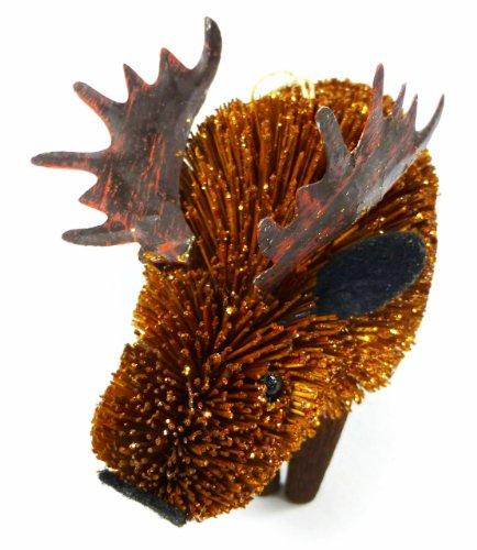 Martha Stewart Buri Bristle Brush Moose Christmas Ornament