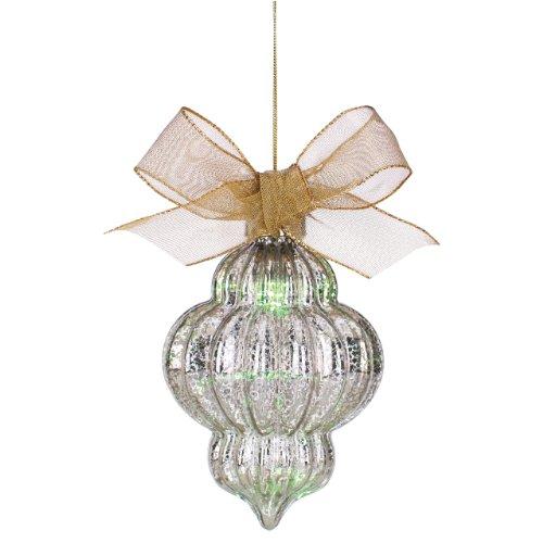 Lenox Spire Lit Mercury Glass Shaped Ornament