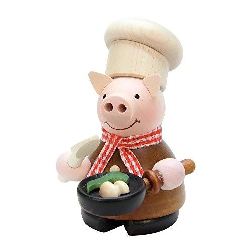 "1-659 – Christian Ulbricht Incense Burner – Lucky Pig Chef – 4.5″""H x 3″""W x 3.5″""D"