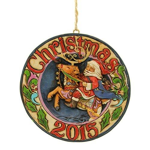 Enesco Jim Shore Dated 2015 Santa Reindeer Ornament
