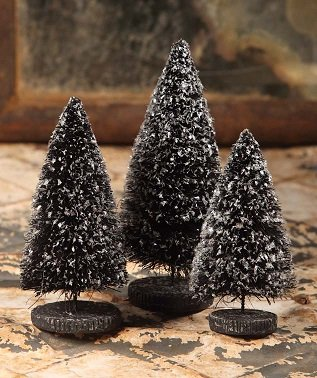 Black Trees with Mica by Bethany Lowe Designs LG2648