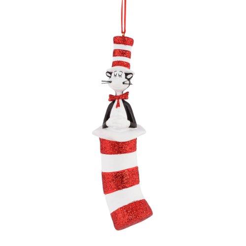 Department 56 Dr. Seuss Cat-Inch Hat Ornament, 5-Inch