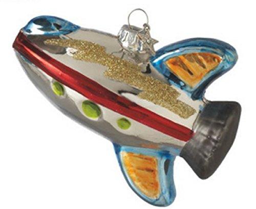 Amazing Space Rocket Plastic Ornament