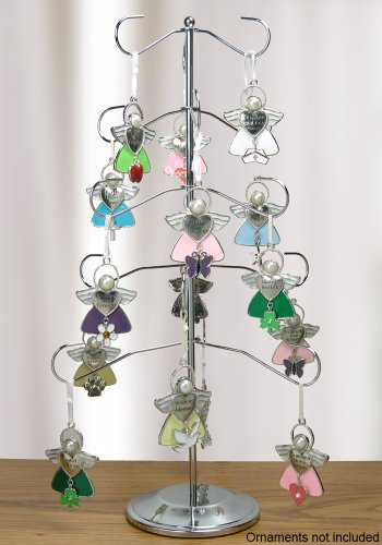 Display Tree – Chrome Ornament Stand – Holds 15 Ornaments – Jewelry Tree – 16 Inch Tall