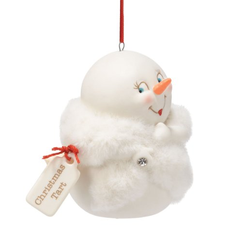 Department 56 Snow Pinions Christmas Tart Ornament, 3.25-Inch