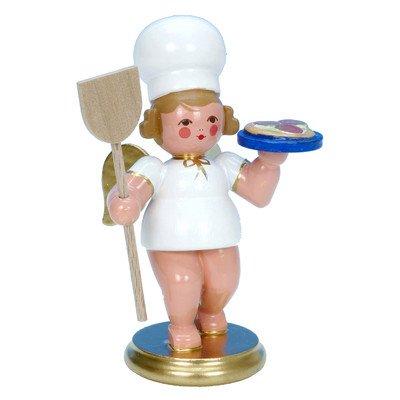 "31255 – Christian Ulbricht Ornament Angel Baker w/pizza – 3″""H x 2.25″""W x 2″""D"