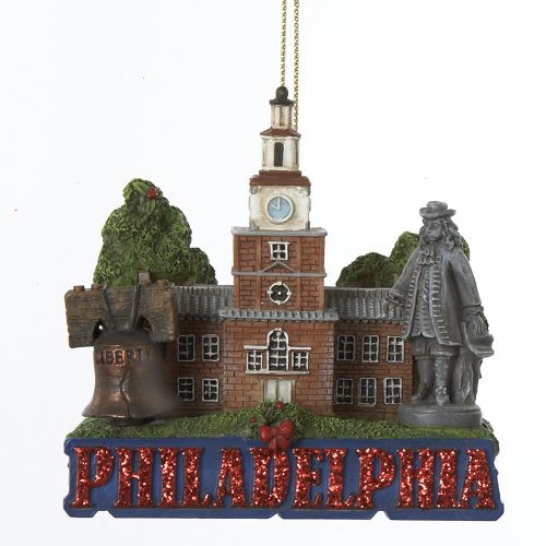 Kurt Adler City Travel Philadelphia Ornament, 3.25-Inch