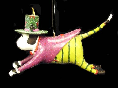 Department 56 Krinkles Cat In Top Hat Mini Christmas Ornament #36621