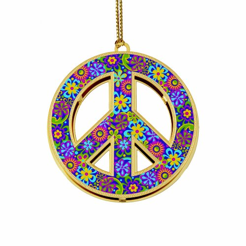 ChemArt Peace Sign Ornament