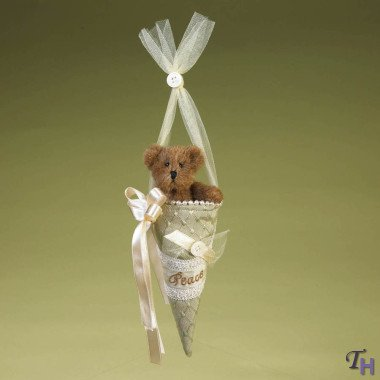 Peace Angelwish 4019149 Victorian Ornament w/ Bear Ornament