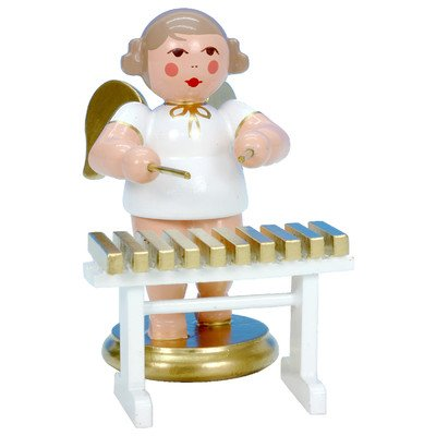 "31323 – Christian Ulbricht Ornament Angel musician with xylophone – 2.5″""H x 2.5″""W x 1.75″""D"