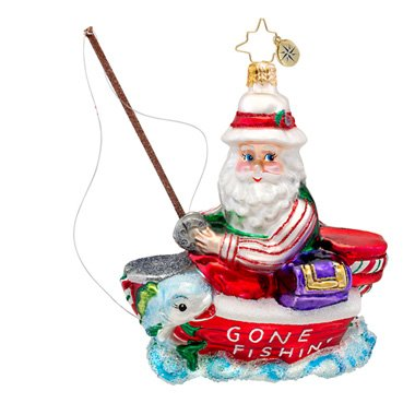 Christopher Radko A Reel Expert Christmas Ornament