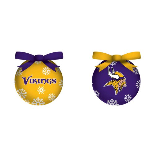 Minnesota Vikings LED Boxed Christmas Ornament Set