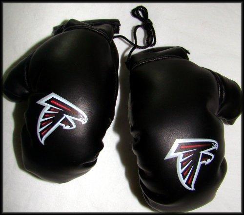 NFL Atlanta Falcons Logo 4″ Mini Boxing Gloves Rearview Mirror Auto Ornament