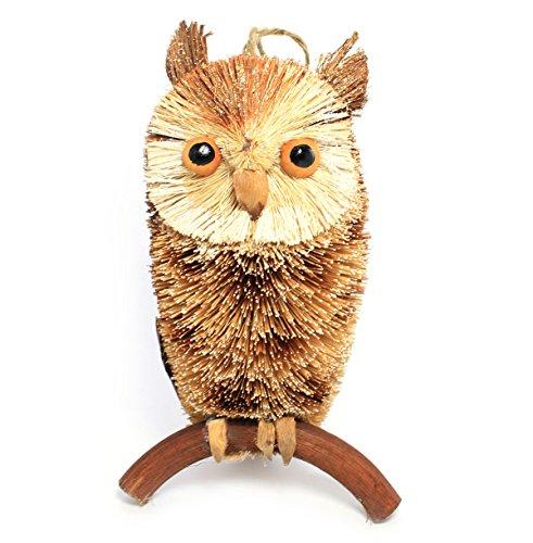 Martha Stewart Buri Bristle Brush 7.5-in Woodland Owl Christmas Ornament