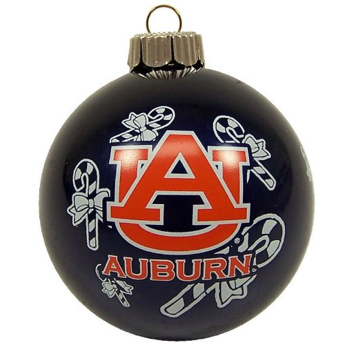 Auburn Tigers Official NCAA 3″ Glass Ball Christmas Ornament by Topperscot