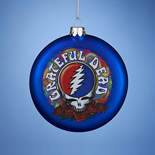 Kurt Adler Glass Grateful Dead Disc Ornament, 100mm