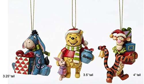 Jim Shore Disney Eeyore, Winnie The Pooh, Tigger Ornament Set 4046063