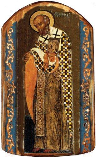 G. Debrekht Saint Nick Icon Wooden Ornament