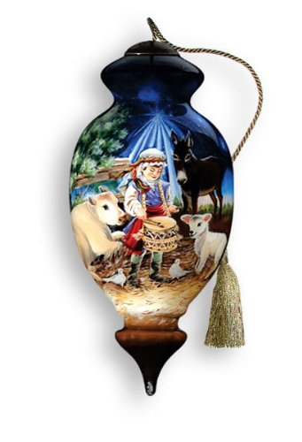 ne u0026 39 qwa art little drummer boy  u2013 glass ornament hand