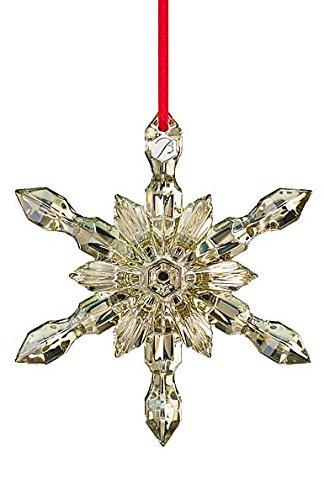 Baccarat 2015 Golden Snowflake Ornament