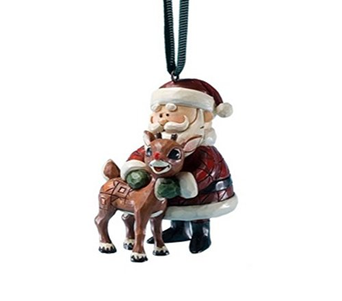 Rudolph Jim Shore Christmas from Enesco Santa Hugging Rudolph Christmas 2.36 IN