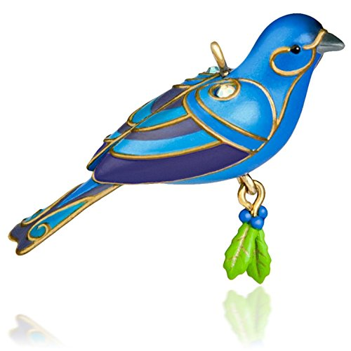 Hallmark QXM8527 Blue Bunting Bird Ornament