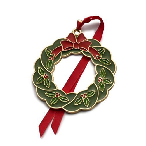 Wallace 6th Edition Gold Plated Enameled Wreath