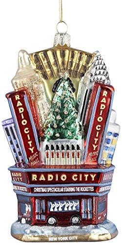 Kurt Adler Radio City Music Hall Glass Ornament, 5-Inch