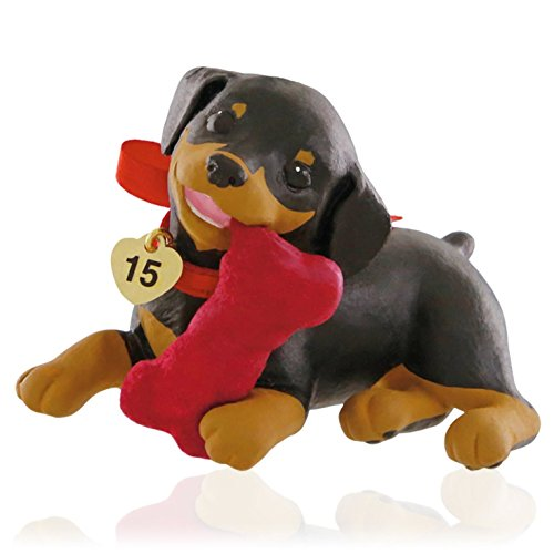 Hallmark QX9129 Doberman Puppy Love Ornament