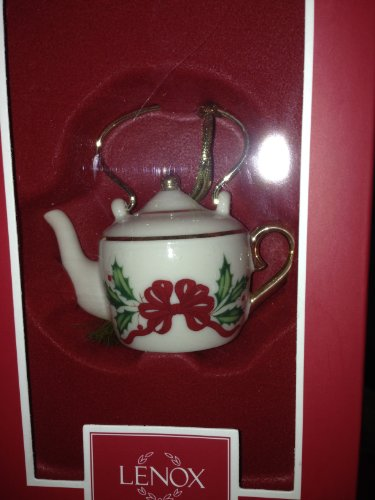 Lenox Steeped in Tradition Tea Kettle Holiday Christmas Ornament