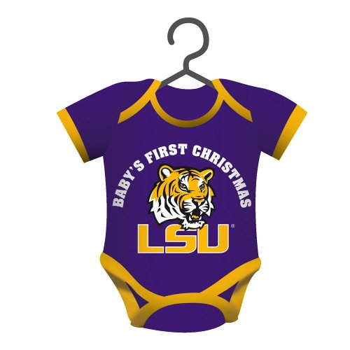 LSU Tigers Official NCAA 4 inch x 3 inch Baby Shirt Ornament