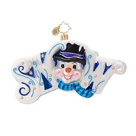 Christopher Radko Signs of Snow Ornament